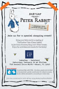 PeterRabbit baby gap event