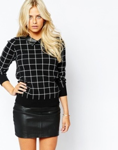 black checked collared shirt asos