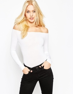 white off shoulder asos